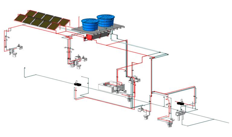 Revit MEP 2019: Instalações Hidrossanitárias - Residência de